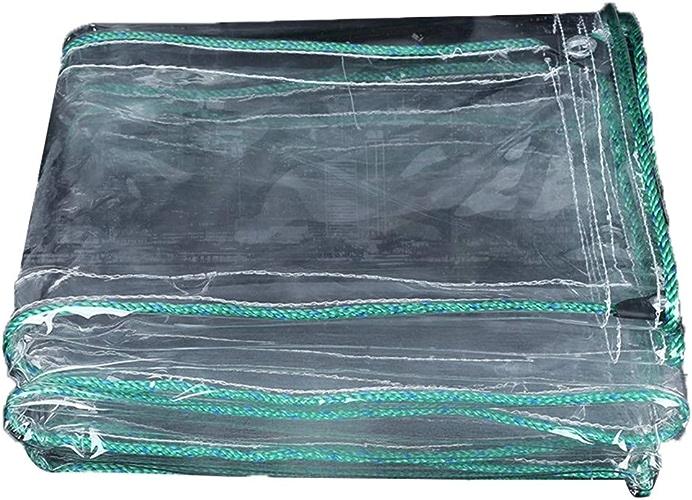 KYSZD-Baches épaissir Bache Imperméable Poncho Blanc Transparent Film Plastique Serre Isolation Tissu imperméable Résistant aux UV Abri de Couverture de Camping
