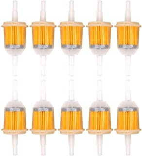 ZOEON 10 Pcs Filtros De Combustible de Automóviles de Gasolina Universal de Piezas de Coches