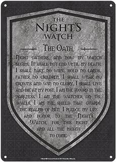 Genuine Game of Thrones The Nights Watch A5 Steel Sign Tin Wall Door Plaque