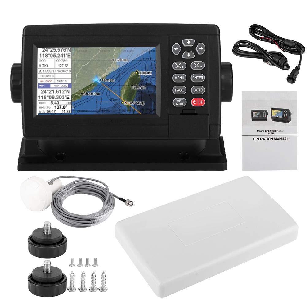 Pantalla LCD en color de 5 pulgadas Navegador GPS satelital marino Carta de barco de posicionamiento de modo dual: Amazon.es: Coche y moto