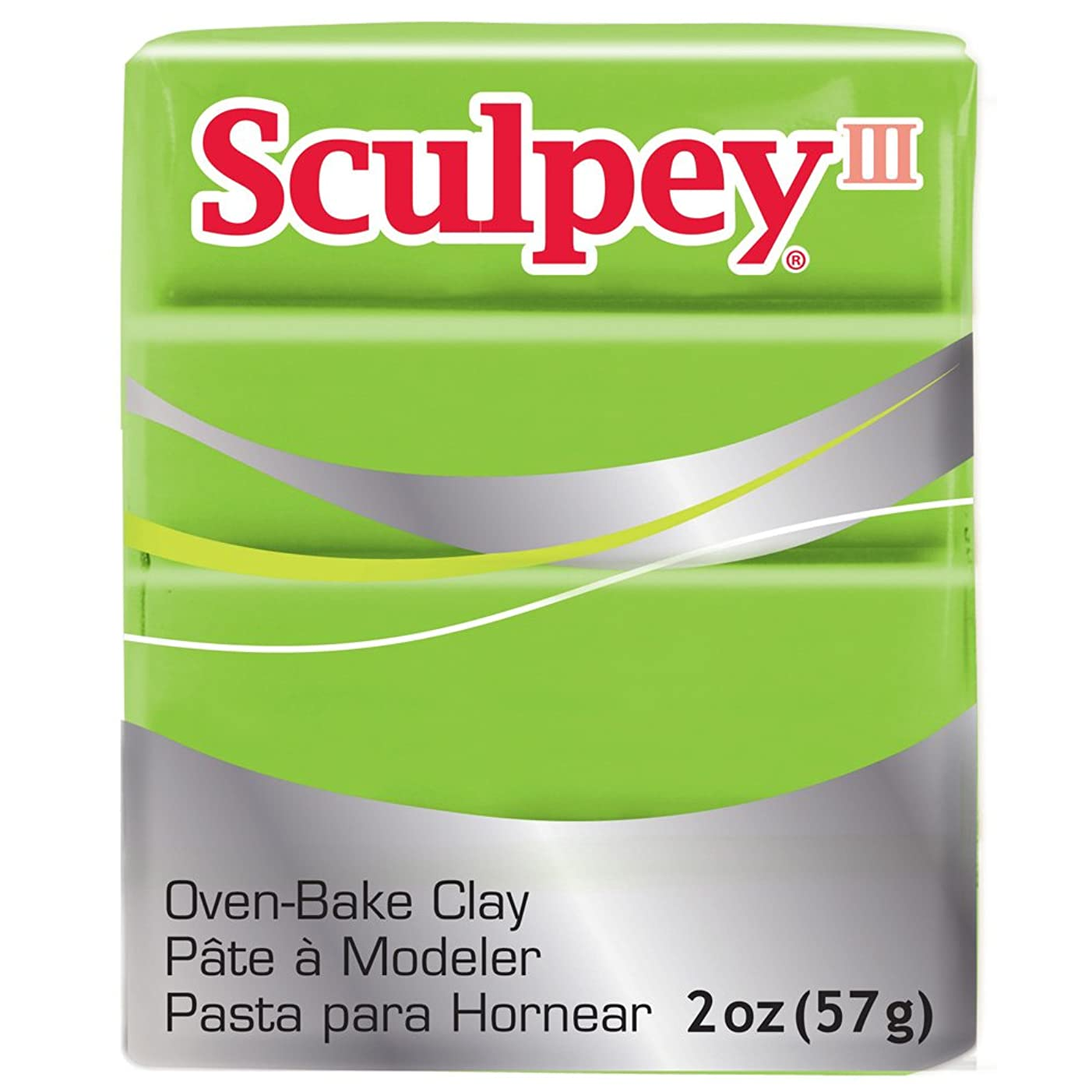 Sculpey III Polymer Clay 2 Ounces-Granny Smith