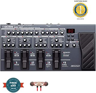 Boss ME-80 Multi-Effects Pedalincludes Free Wireless Earbuds - Stereo Bluetooth In-ear and 1 Year Everything Music Extended Warranty