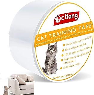 H HOME-MART 4 inches x 30 Yards Cat Sofa Scratch Guard,Anti Cat Scratch Tape, Cat Training Tape, 100% Transparent Clear Ca...
