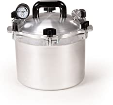 All American 910 Canner Pressure Cooker, 10.5 qt, Silver