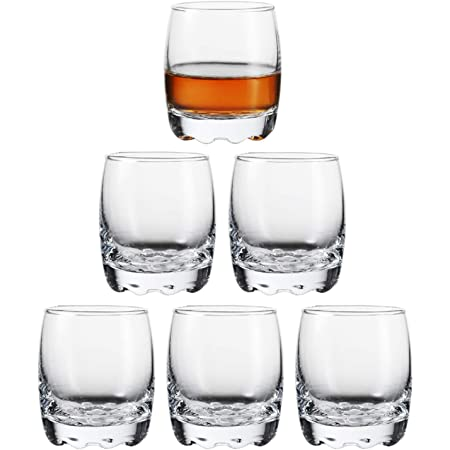 Shot Glasses, 2.8oz Heavy Base Shot Glass Set, Clear Shot Glasses Set of 6/Tequila Shot Whiskey Shot Glass espresso liquor