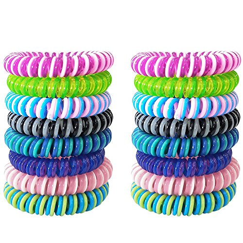 Mosquito Repellent Bracelet, (16 Pack - Multi-Colour) Best Pest Control Repeller up to 250Hrs of Protection Against Mosquitoes & Insects - [DEET-FREE, NO-SPRAY] Wrist Bands for Kids, Babies & Adults
