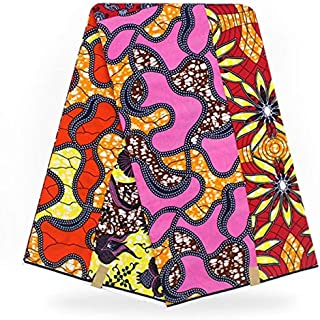 Lace - hollandais Dutch Wax African Wax Fabric Super Wax hollandais African Fabric Holland Wax ybg65-153 - (Color: As Picture)