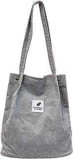cdhgsh Damen Damen Cord Handtaschen Umhängetasche Damen Einkaufstasche Messenger Umhängetasche Grau