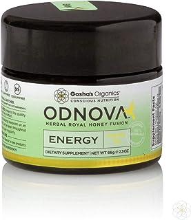 ODNOVA Energy by Gosha's Organics - an Herbal Royal Honey Fusion, Wild Raw Organic Honey, Marine Phytoplankton, Royal Bee ...