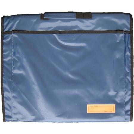 背もたれ式防災頭巾用ポケット付カバー ネイビー 約34×42cm 90053