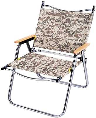 折りたたみ椅子シンプルで デッキチェア 折りたたみリクライニングチェア (Color : Digital camouflage)