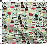 Bäckerei, Gebäck, Kuchen, Mint, Andrea Lauren Stoffe -