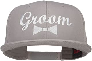 e4Hats.com Groom Bow Tie Embroidered Cotton Snapback