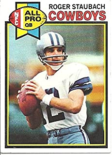 ROGER STAUBACH NFL ALL PRO COLLECTIBLE FOOTBALL CARD - 1979 TOPPS FOOTBALL CARD #400 (DALLAS COWBOYS) FREE SHIPPING & TRACKING