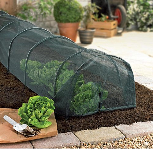 Grow tunnel net plant cover, suitable for a variety of vegetables & plants. Helps to deter birds & other pests.
