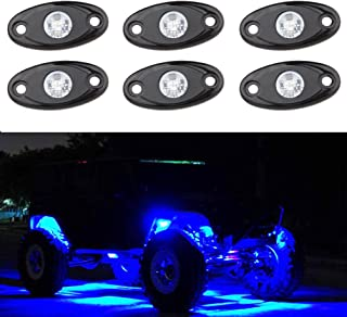 Rock Lights with 6 pod Lights for Jeep Off Road Truck Car ATV SUV Motorcycle Under Body Glow Light Lamp (Blue)