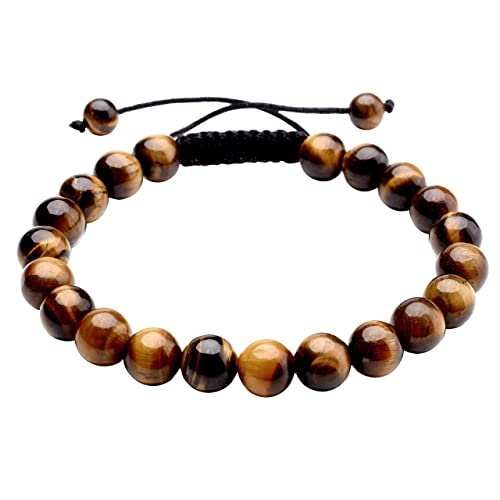 Jovivi 8MM Natural Stone Gemstones Healing Energy Crystal Elastic Beaded  Bracelets 087a9dc3d