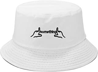 Embroidered Bucket Hats Personalized Fisherman Cap for Men, Women, Packable Reversible Sun Hat Black