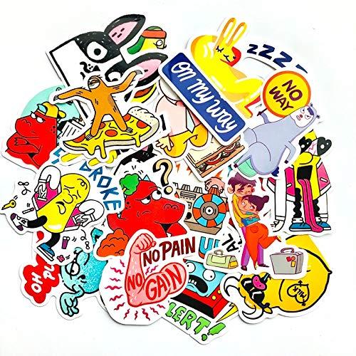 BAIMENG Don'T Repeat Waterproof Fun Scrapbook Stickers Laptop Box Wall Refrigerator Skateboard Car Travel Stickers 20Pcs