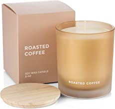 Venta Scented Soy Candle - Roasted Coffee Natural Say Wax in a 8Oz Glass for Aromatherapy Stress Relief Home Decor with Clean Fragranceand Decorative Jar