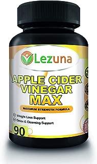 Lezuna Apple Cider Vinegar Capsules, Natural Weight Loss, Detox and More with Spirulina, Lecithin, Kelp, Apple Pectin, Bromelain, Potassium and Vitamin B-6, 90 Capsules