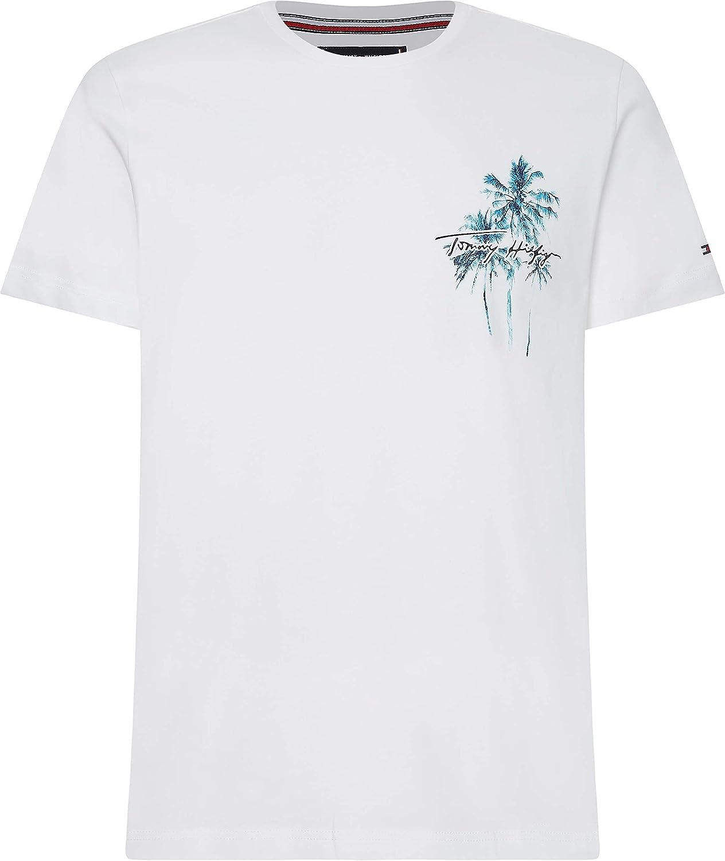 Tommy Hilfiger Palm Box Print tee Camiseta para Hombre