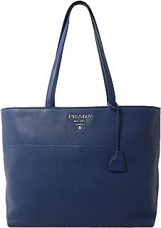 Prada Vitello Phenix Leather Shopping Tote Bag Bluette 1BG203