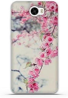 8f54748ec5c FUBAODA Funda Huawei Ascend Y5 2 3D Realzar, Hermosa Flor Patrón, Gel de  Silicona