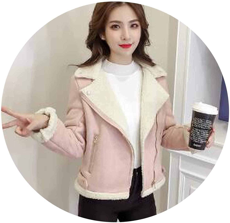 Surprisedresshatglassescoat Women Cool Zipper Plus Velvet Jacket Woman Autumn Winter Warm Long Sleeve Outwear