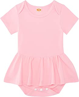 Light Pink Baby Girl Summer Clothes Round Neck Party Baby Dress Fashion Stretchy Infant Girl Rompers 6-12 Months Girl Phot...