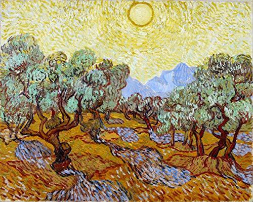 supmsds DIY-Digitale Zeichnung Repliken von Van Goghs berühmter Gemäldeserie 33 Malen nach Zahlen Kit DIY Leinwand Ölfarbe Digitale Zeichnung Leinwand Mit Pinsel Geschenke für Kinder und Erwachsene
