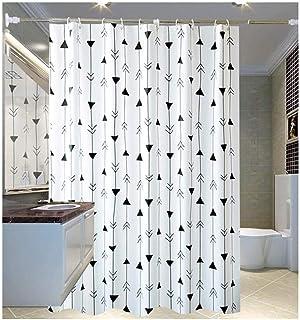 El Moho Cortina de Ducha Impermeable Cortina de baño WC partición con los Ganchos de Cortina (Size : W180xH180cm)
