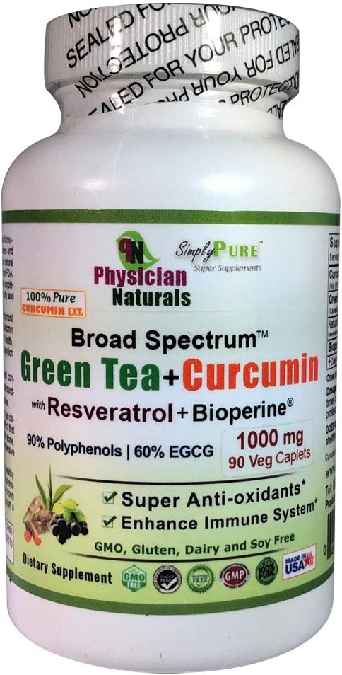 Green Tea and Curcumin C3 Resveratrol Bioperine 1000 Great interest with mg Sale SALE% OFF