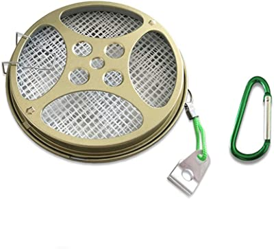 Portable Mosquito Coil Holder Sandalwood Burner with Buckles Best for Outdoor Use Pool Side Patio Deck Camping Fishing Hiking