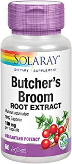 Solaray Butchers Broom Root Extract 100 mg | Plus 150 mg Whole Root | Healthy Circulation & Blood Vessel Integrity Support...