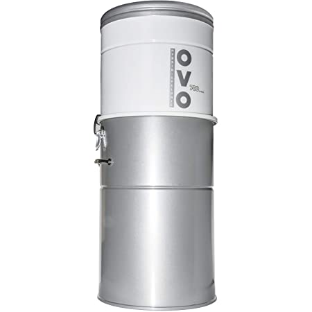 OVO Aspirateur Centralisé 700 Airwatts 35 Litres - Aspiration Centralisée Jusqu'a 400 M2 - Neuf, Existant, Rénovation - Garantie 10 Ans