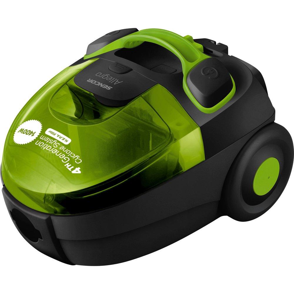 Sencor SVC 510GR aspirador - Aspiradora (1400W, 250W, Cilindro, Sin bolsa, De plástico, HEPA) Verde: Amazon.es: Hogar