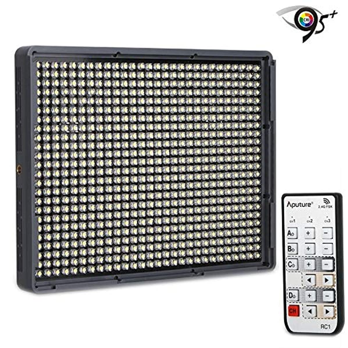 ShenBiadolr On-Camera Video Lights Amaran HR672S High CRI 95 Studio Video Light LED Photo Light Adjustable Light with 2.4GHz Wireless Remote Flicker Free