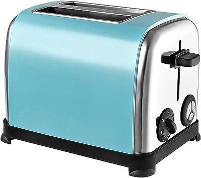 Kalorik TO48771 Two Slice Toaster, Stainless Steel, 850 W, Aqua