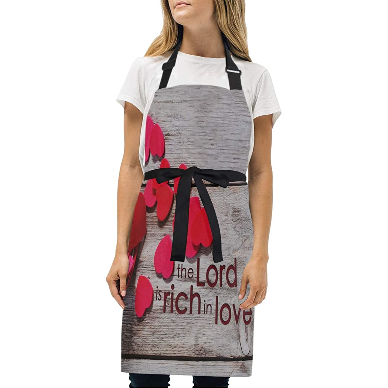 HJudge Womens Aprons Christian Love Kitchen Bib Aprons with Pockets Adjustable Buckle on Neck