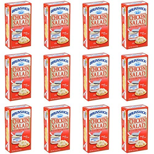 Brunswick Chicken Salad With Crackers 12 Packs 3.0 oz ready to eat