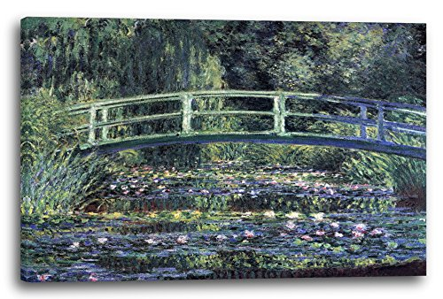 Leinwand (120x80cm): Claude Monet - Seerosen und japanische Brücke