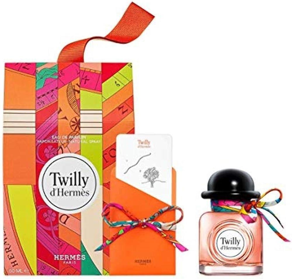 Hermès twilly, eau de parfum,profumo per donna, 50ml, cofanetto edizione limitata 100178V0