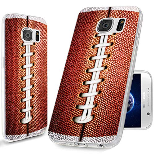 ChiChiC S7 Case,Galaxy S7 Case,360 Full Protective Anti Scratch Slim Flexible Soft TPU Gel Rubber Clear Cases Cover with Design for Samsung Galaxy S7,Funny Sports Design Brown Football