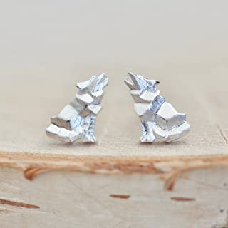 Origami Wolf Earrings in Sterling Silver - Jamber Jewels