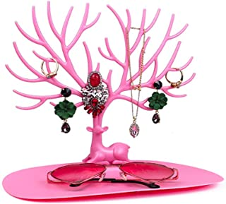 Zealite Deer Earrings Necklace Ring Pendant Bracelet Jewelry Display Stand Tray Tree Storage Racks Organizer Jewelry Shelf...