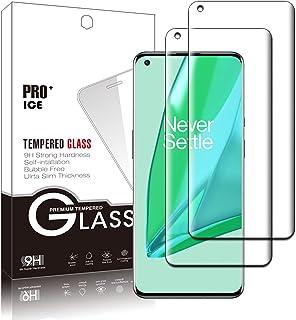 【2枚】OnePlus 9 Pro ガラスフィルム フィルム強化ガラス液晶保護フィルム液晶 ガラス ケース フィルム硬度9H/気泡なし/指紋防止/自動吸着/3D曲面 OnePlus 9 Pro 対応
