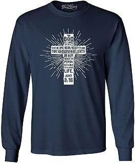 John 3:16 Bible Verse Cross Long Sleeve Shirt