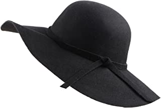 Women's Foldable Wide Brim Felt Bowler Fedora Floopy Wool Hat