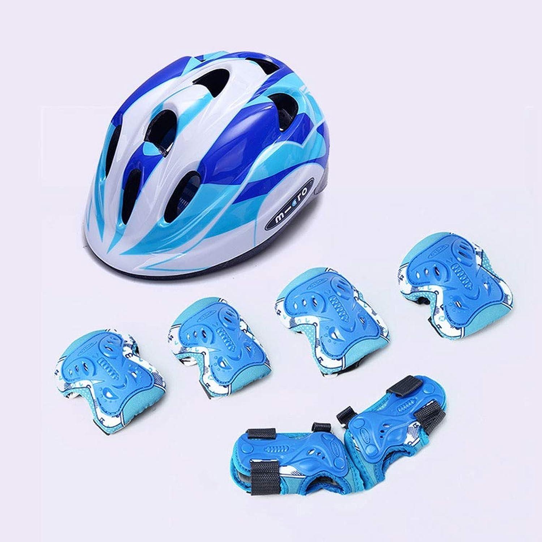 tienda en linea WERT 7pcs Casco De Bicicleta Bicicleta Bicicleta para Niños Equipo De Ciclismo Scooter De Seguridad para Patinaje sobre Hielo Y Deportes De Seguridad para Niños,azul-M  muchas sorpresas